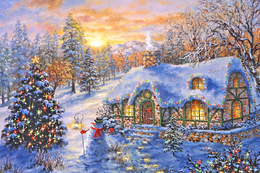 NEW Winter Landscape New Year Christmas Modern Rare New Postcard #117/1 - Andere