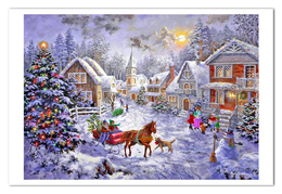 NEW Winter Landscape New Year Christmas Modern Rare New Postcard #117/3 - Andere