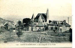 N°68880 -cpa Sainte Adresse -la Chapelle Et La Ville- - Sainte Adresse