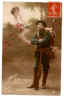 CPA Fantaisie Patriotique - 1119. Avant L'Attaque - L'Apparition - Guerre 1914-18