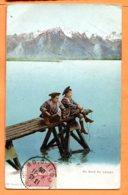VAL165, Au Bords Du Lac Léman, Scout, Enfant, Béret, Phototypie 14, Circulée 1905 - VD Vaud
