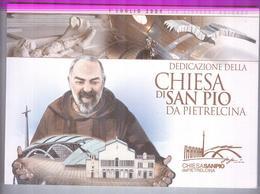 PADRE PIO..DEDICAZIONE CHIESA DI SAN PIO...CARTOLINE CON ANNULLO FILATELICO - Religion & Esotérisme