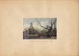Planche Vers 1900 Lithographie Chine White Pagoda Peking China Chinois - Papier Chinois