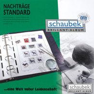 Schaubek V-64305N Album Germany 2010-2014 Standard, In A Screw Post Binder Leatherette Blue, Vol. V Without Slipcase - Albums & Binders