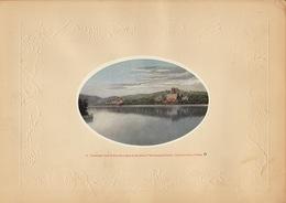 Planche Vers 1900 Lithographie Chine Wan Shou Shan Peking China Chinois - Papier Chinois