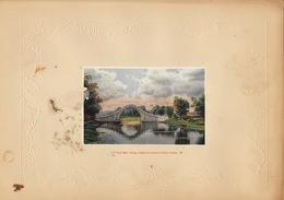 Planche Vers 1900 Lithographie Chine Jade Belt Bridge Peking China Chinois - Papier Chinois