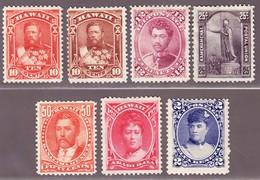 1883-90 Teilserie Scott Nr. 44-49 Ohne Gummi - Hawaï