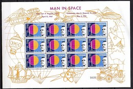 Man In Space 1961 Unfolded20 Cts Sheet MNH NO Perforation Through The Margins (157) - Surinam ... - 1975