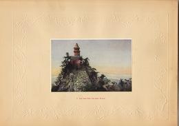 Planche Vers 1900 Lithographie Chine Kua Yueh Peak Pan Shuan Kichow China Chinois - Papier Chinois