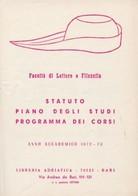 Bari - FACOLTÀ LETTERE E FILOSOFIA, STATUTO, PIANO STUDI, PROGRAMMA CORSI Anno Accademico 1972-73, Adriatica Editrice - Vieux Papiers