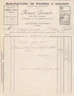 Italie Facture Illustrée 1927 Maucci Riccardo Pierres à Aiguiser , à Faulx Lombardes MULAZZO PONTREMOLI Aix Les Bains - Italie