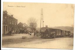 Belgique CHAMPLON Tenneville Station Vicinal Beau Plan Train - Tenneville