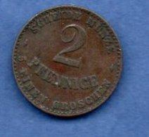 Saxe Coburg Gotha -  2 Pfennig 1870 B - Km # 110a  -    --  état  TTB - Piccole Monete & Altre Suddivisioni