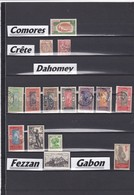 """COLONIES FRANCAISES / COMORES-CRETE-DAHOMET-FEZZAN-GABON / OBLITERATIONS  - Liquidation Petit Stock à Saisir"""""""""""""""""""""""""""""""""""" - France (former Colonies & Protectorates)"""