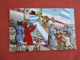 Dressed Cats-  Going On A Airplane    Ref 3139 - Cats