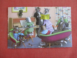 Dressed Cats-  Playing The Piano    Ref 3139 - Cats