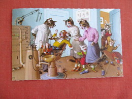 Dressed Cats-In The Dentist Chair    Ref 3139 - Cats