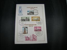 "BELG.1974 1718 1719 1720 1721 & 1722 Fila Card  ""Historische Uitgifte/ Emission Historique"" - FDC"