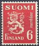 Finland 1945 6mk Rood Leeuwentype /30 PF-MNH-NEUF - Finland