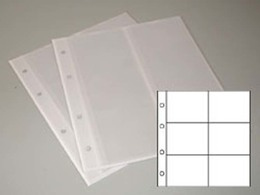 5 Prophila Kobra Coin Sheets, 6 Pockets Up To 64 Mm Diameter White - Supplies And Equipment