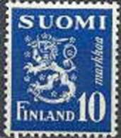 Finland 1945 10mk Blauw Leeuwentype /30 PF-MNH-NEUF - Finland