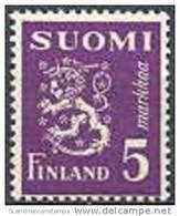 Finland 1945 5mk Violet Leeuwentype /30 PF-MNH-NEUF - Finland