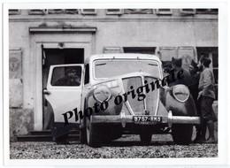"""Autos Voitures Automobiles Photo De Presse Originale RENAULT VIVA Grand Sport Militaire Soldat """" Service Cinéma Armée """" - Automobile"""