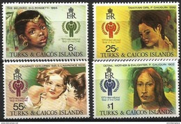 Turks & Caicos - 1979 Year Of The Child Set Of 4  MNH **   Sc 386-9 - Turks And Caicos