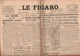 JOURNAL LE FIGARO - 7 SEPTEMBRE 1944 - LE FRONT EST CONTINU DE LA HOLLANDE AU JURA - Journaux - Quotidiens
