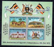 OUGANDA - UGANDA - B/F - M/F - 10th ANNIVERSARY OF UGANDA'S INDEPENDENCE - ANNIVERSAIRE DE L'INDEPENDANCE - 1972 - - Ouganda (1962-...)