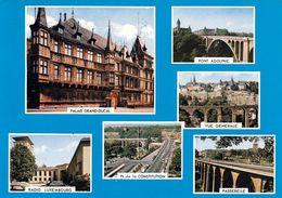 1 AK Luxemburg * Sehenswürdigkeiten In Der Hauptstadt - Palais Grand Ducal, Pont Adolphe, Passerelle, Radio Luxembourg * - Lussemburgo - Città