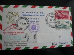 Trasporto Nave+Elicottero Taranto Nave Rizzo A Base Elicotteri Grottaglie 10.5.72 - 6. 1946-.. Repubblica