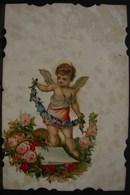 """JFC. 471. Découpis """" Ange """" Sur Une Carte Postale En 1906 - Angeles"""