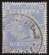 England  .     Yvert   .    88    .   Anchor   .  O   .   1883-84    .  ( 2 Scans )  .  Cancelled .   /    .   Gebruikt - 1840-1901 (Victoria)
