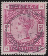 England  .     Yvert   .    87    .   Anchor   .  O   .   1883-84  Cancelled .   /    .   Gebruikt - 1840-1901 (Victoria)