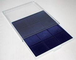 Prophila Münzbox Grau 12 Eckige Fächer Für Münzen Bis 66 Mm, Blaue Einlage - Matériel
