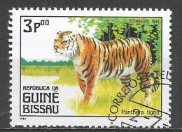Guinea-Bissau 1984. Scott #561 (U) Carnivorous Animals, Tiger * - Guinée-Bissau