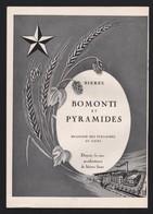 Pub Papier 1949 Boisson Bières Bomonti Et Pyramides Brasserie Egypte Le Caire Usine - Advertising