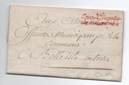 AN 3 - LETTRE De L'AGENCE NATIONALE DES POSTES AUX CHEVAUX ET RELAIS Pour BELLE ISLE EN TERRE (COTES D'ARMOR) - Marcophilie (Lettres)