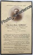 Faire Part Décès Photo Guerre 14-18 Militaire Régiment Artillerie Deathcard WW1 MAUBEUGE Nord 59 France - Décès