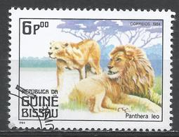 Guinea-Bissau 1984. Scott #562 (U) Carnivorous Animals, Panthera Leo, Lions * - Guinée-Bissau