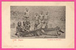 Afrique - Angola - Tocadores De Marimba - Instrument De Musique - Enfants - Animée - Edit. OSORIO & SEABRA - Angola