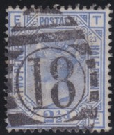 England  .     Yvert   .   62   .   Crown .   .   1880-83    .     O   .    Cancelled .   /    .   Gebruikt - 1840-1901 (Victoria)