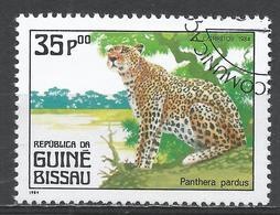Guinea-Bissau 1984. Scott #566 (U) Carnivorous Animals, Panthera Pardus, Panther * - Guinée-Bissau