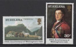 Saint Helena, Visit Of The Duke Of Wellington To Longwood, Complete Set, MNH - Isola Di Sant'Elena