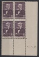 France, 1938, Centenaire De La Naissance De Léon Gambetta, 55 C., Bloc De 4, Coin Daté (1-4-38), Neuf MNH - 1930-1939