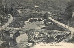 CPA 30 Gard L'Estréchure Le Pont La Rivière Les Chemins Gardon Saint-Martin-de-Corconac Sentier De La Diligence - France