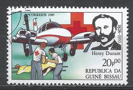 Guinea-Bissau 1985. Scott #643 (U) Henri Dunant (1828-1910), Red Cross Founder, Plane * - Guinée-Bissau