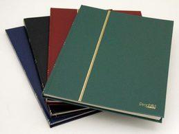Album Pour Timbres, 16 Pages, Intérieur Blanc (couv. Noir) - Albums & Reliures