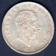 ITALIA   5   LIRE    1873 - 1861-1878 : Víctor Emmanuel II